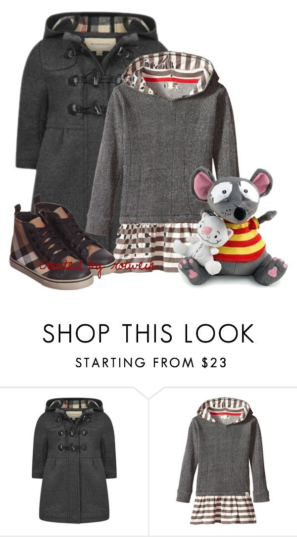 """Mini Lolla"" by rotwein ❤ liked on Polyvore featuring Burberry and Burt's Bees"