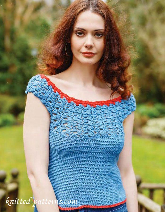 Crochet summer top free pattern | Free knitting patterns | Pinterest ...