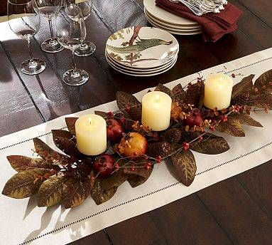 Love the large magnolia leaves and candles This can be used for