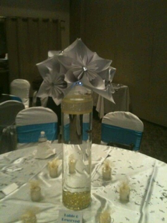 Origami Wedding Flowers With Fish In Vase Quinceanera Ideas