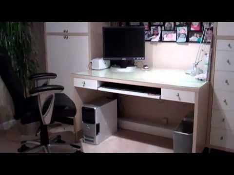 Hide Your Computer Desk Wiring Computer Furniture Desk