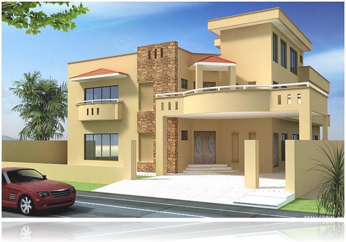 Best front elevation designs 2014 best front elevation for Latest house elevation