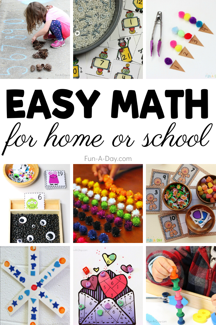 Photo of Easy Math Activities for Preschoolers to Do at Home or School