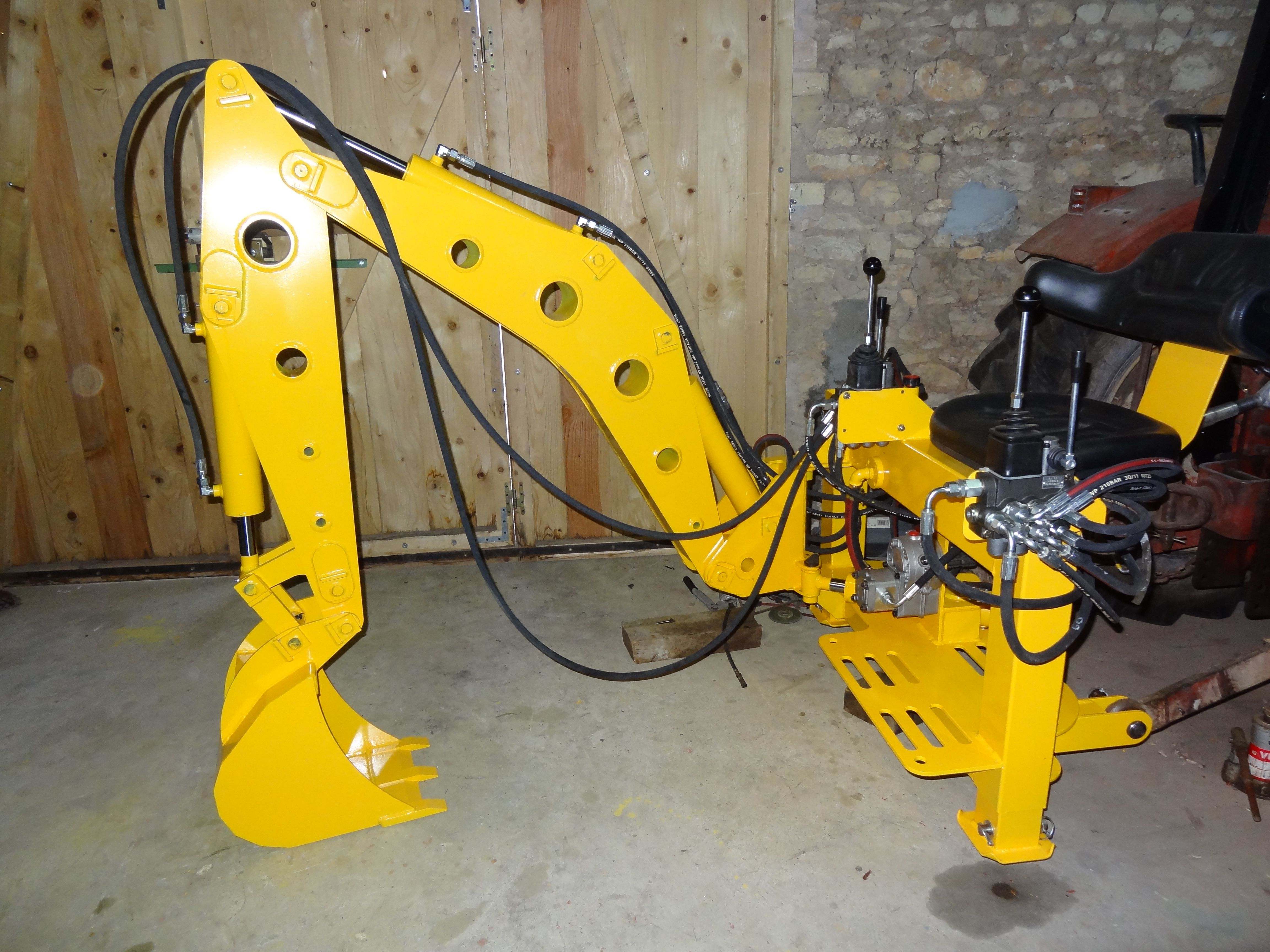 Excavator Hydraulic Arm Project : Homemade backhoe attachment plans ftempo