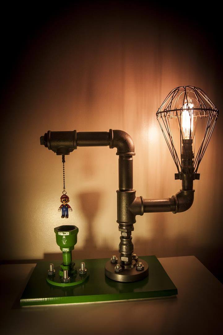 Beautiful Steampunk Mario Lamp   Album On Imgur