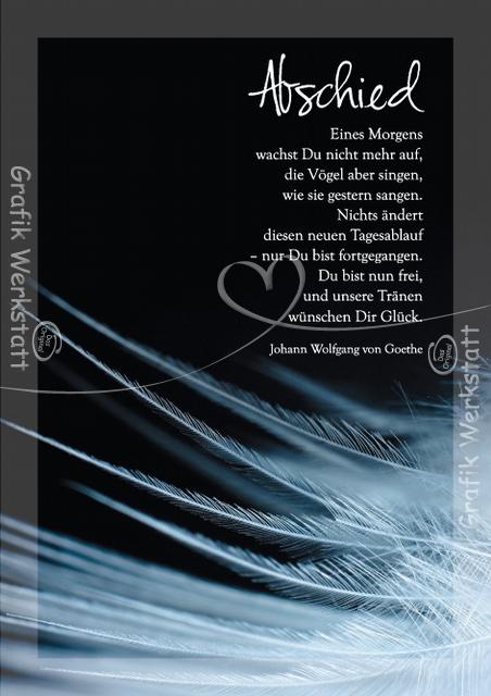 Abschied - Doppelkarte - Grafik Werkstatt Bielefeld