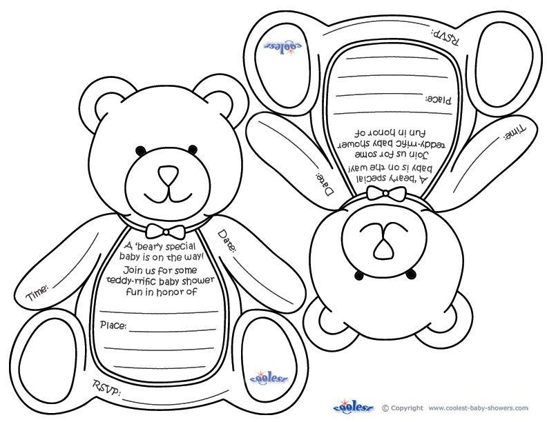 free bear invitation to print   Previous Printable Next Printable ...