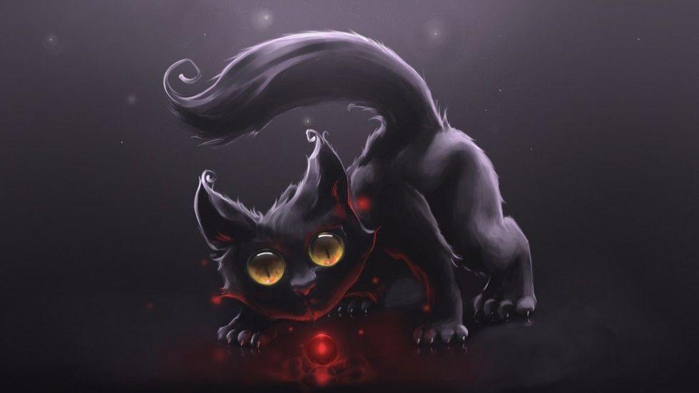 Red Light By Rihards Donskis Aka Apofiss Google Search Black Cat Art Cute Black Wallpaper Black Cat Anime