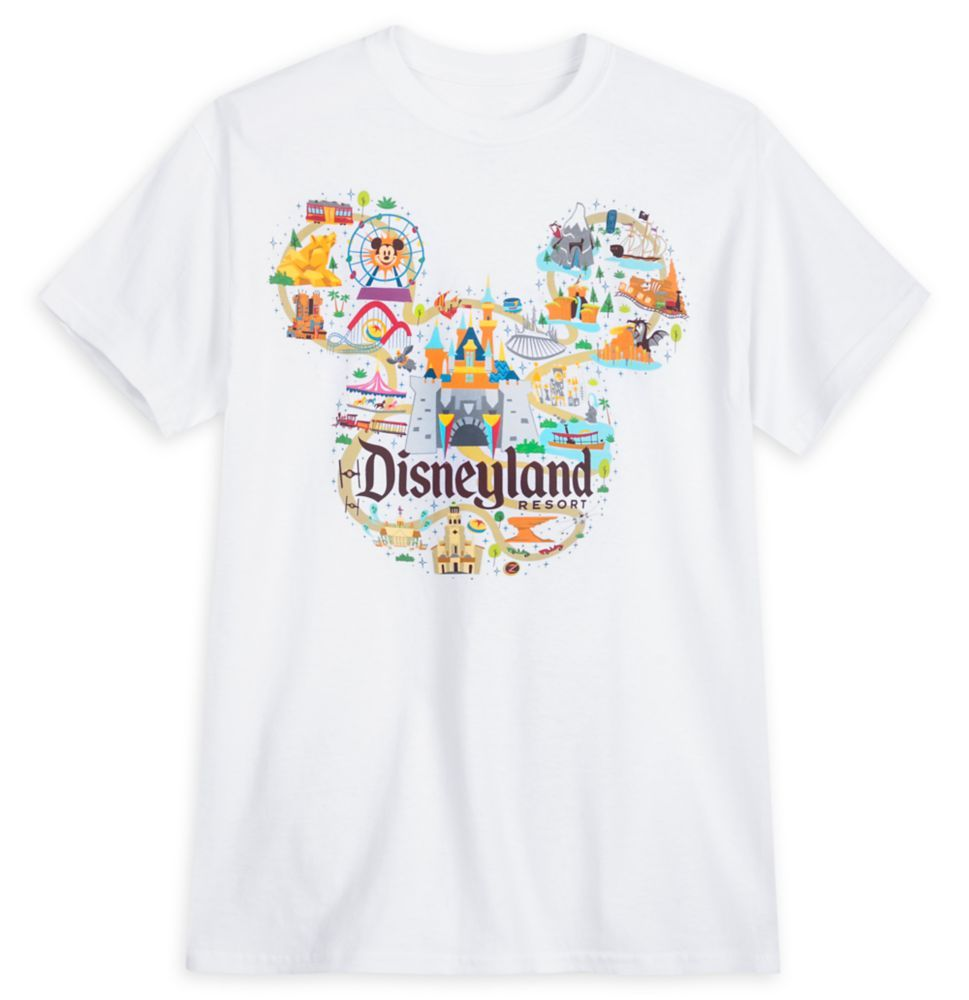 Disneyland map tshirt for adults park life in 2021