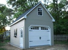 Amish 12x20 Single Car 2 Story Vinyl Garage Shed New Garage Plans Garage Plans Detached Garage Plans With Loft