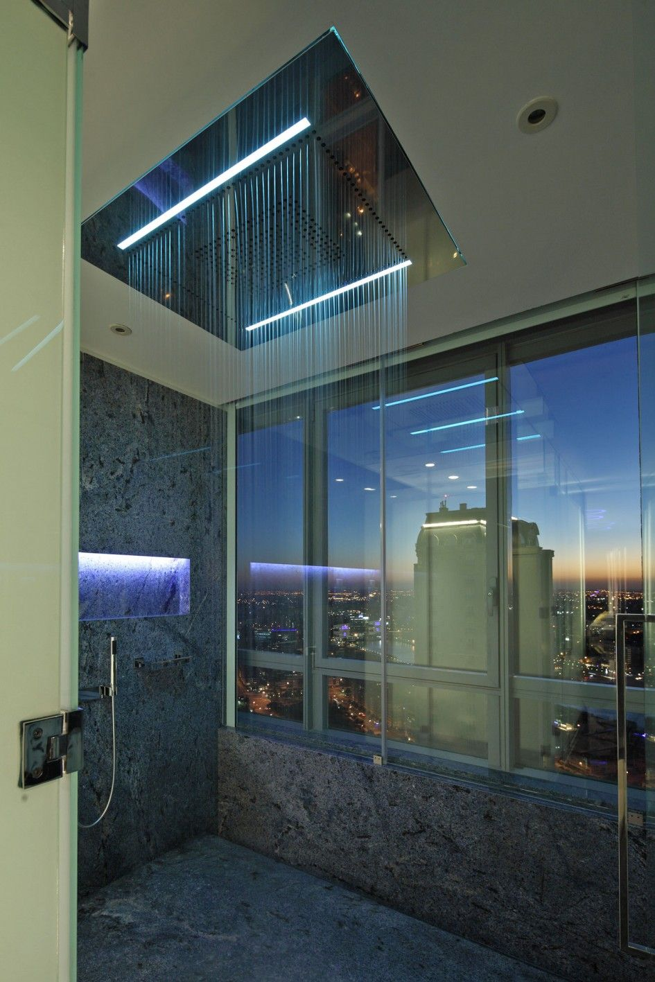 Architecture shower heads rain with handheld and lighting ideas plus glass window the glamorous scratching apartment in buenos aries