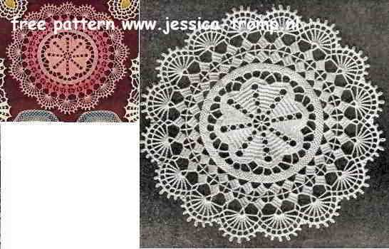Pink Perfection Doily Free Vintage Crochet Doilies Patterns