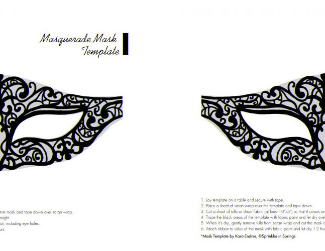 Free Printable Masquerade Mask Templates  Crafts