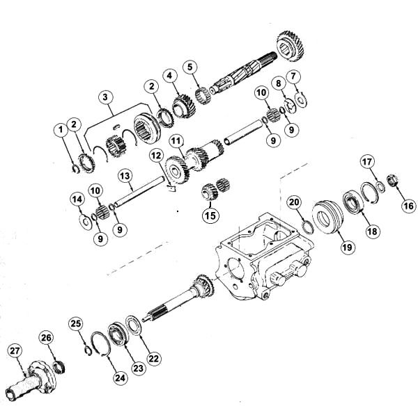 Transmission T-86AA Exploded View Diagram The T86 is very