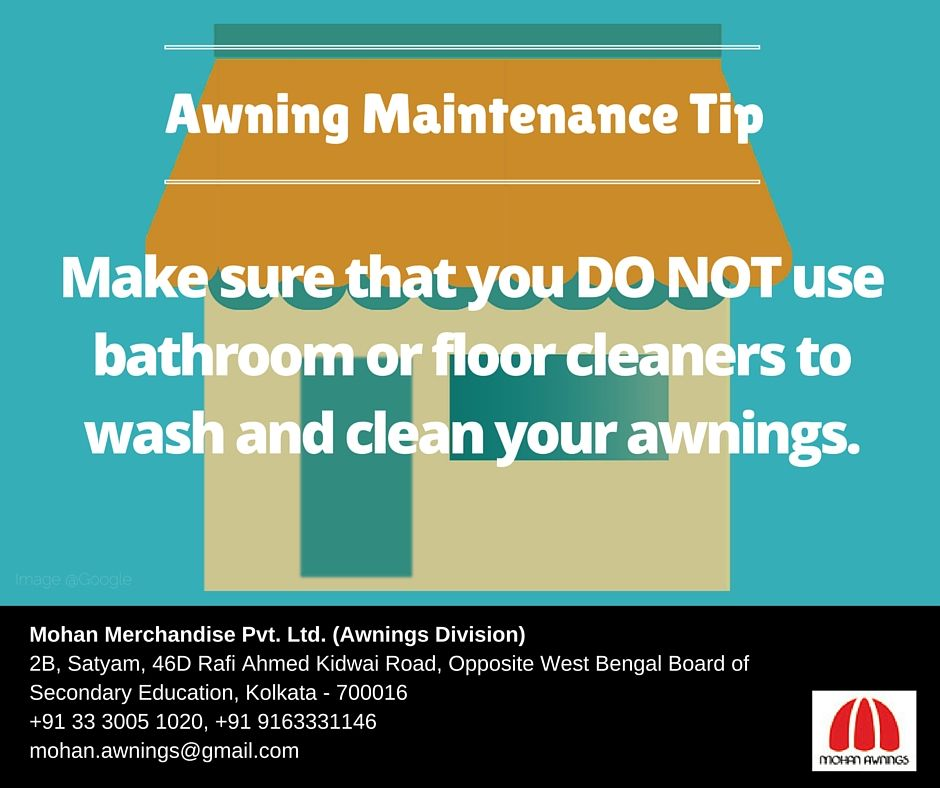 Always Use A Cleaner That Can Clean Your Awnings But Does Not Damage The Fabric Awning Awningcleaner Floor Cleaner Awning Cleaning
