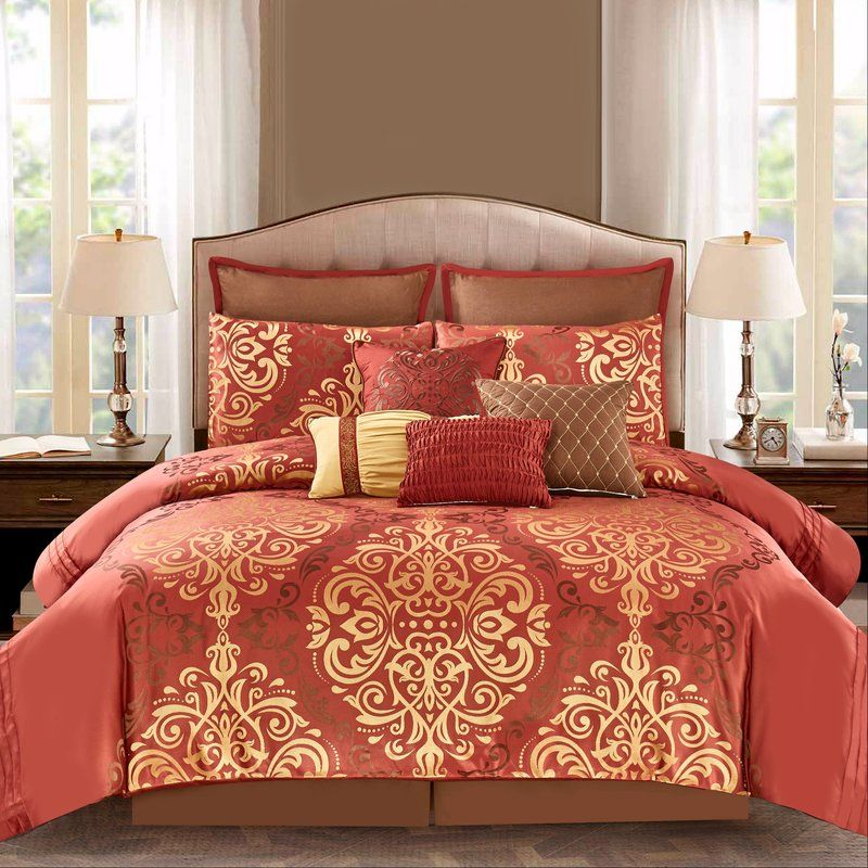 Jacquard Gold Comforter Set, J Queen New York Brandon Bedding Collection