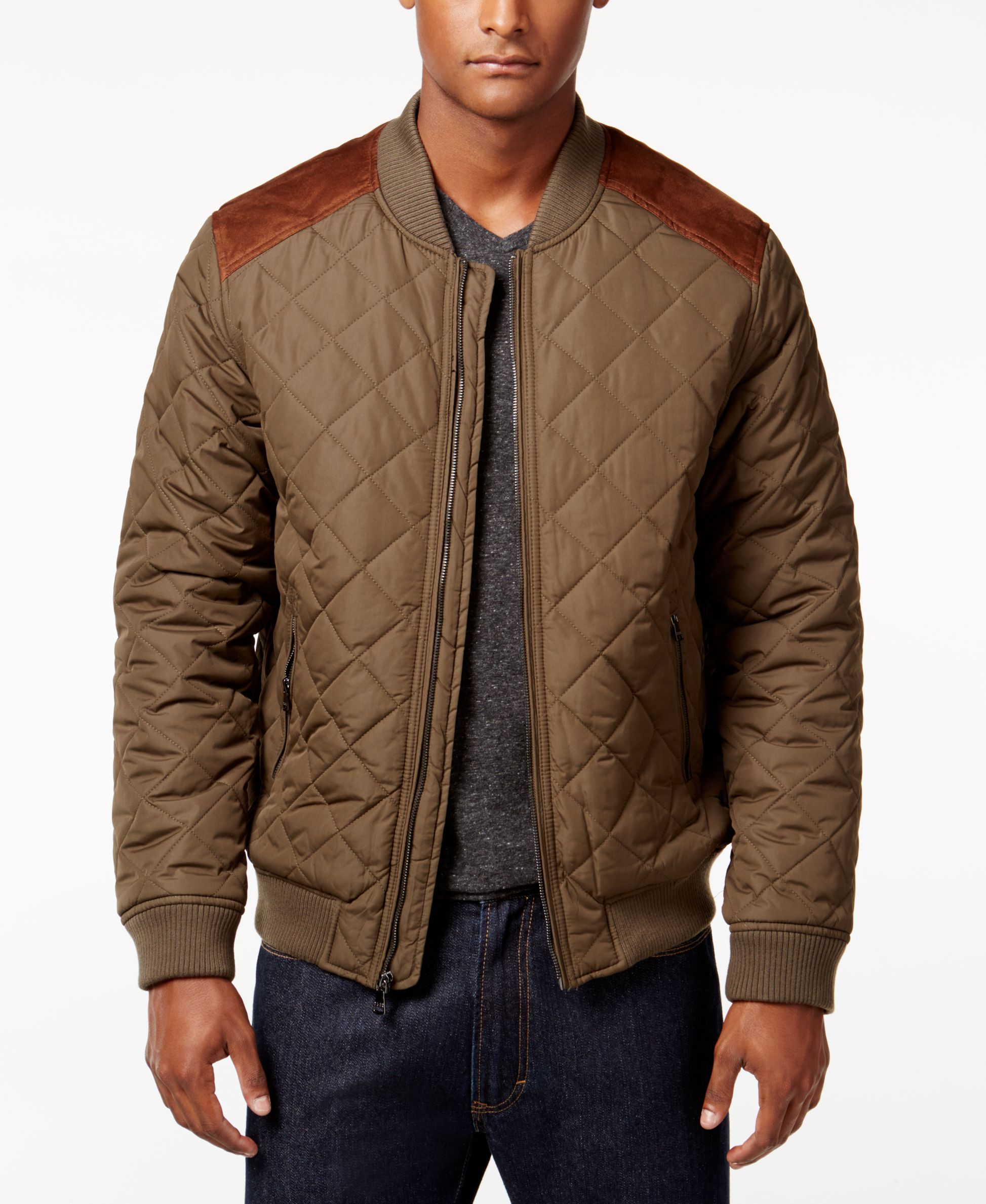 Sean John Men s Quilted Bomber Jacket  05db21eb4daa