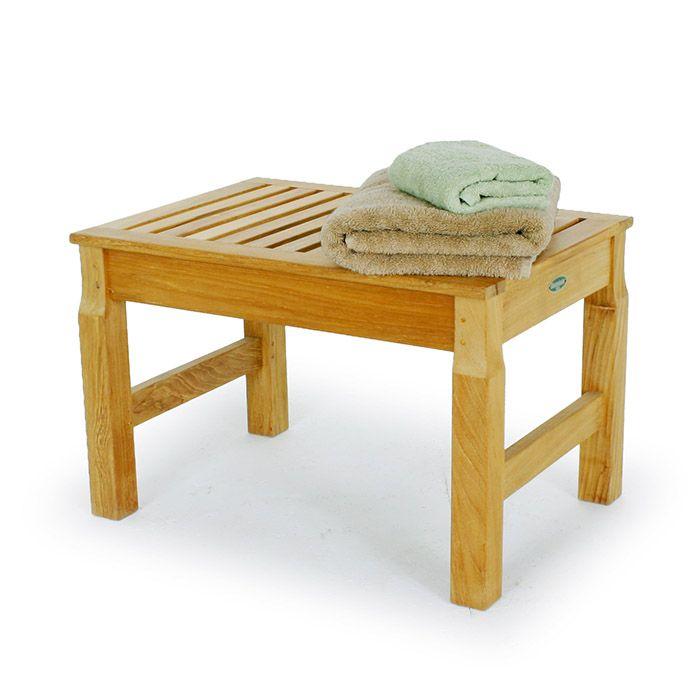 Waterproof Shower Stool Seat | Teak furniture, Teak and Shower benches