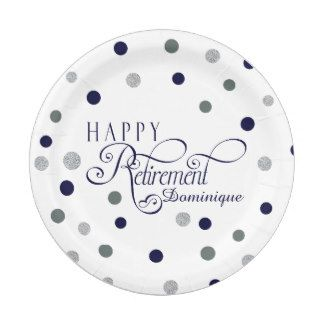 Modern Retirement Party Plates 7 Inch Paper Plate  sc 1 st  Pinterest & Modern Retirement Party Plates 7 Inch Paper Plate | Adult Parties ...