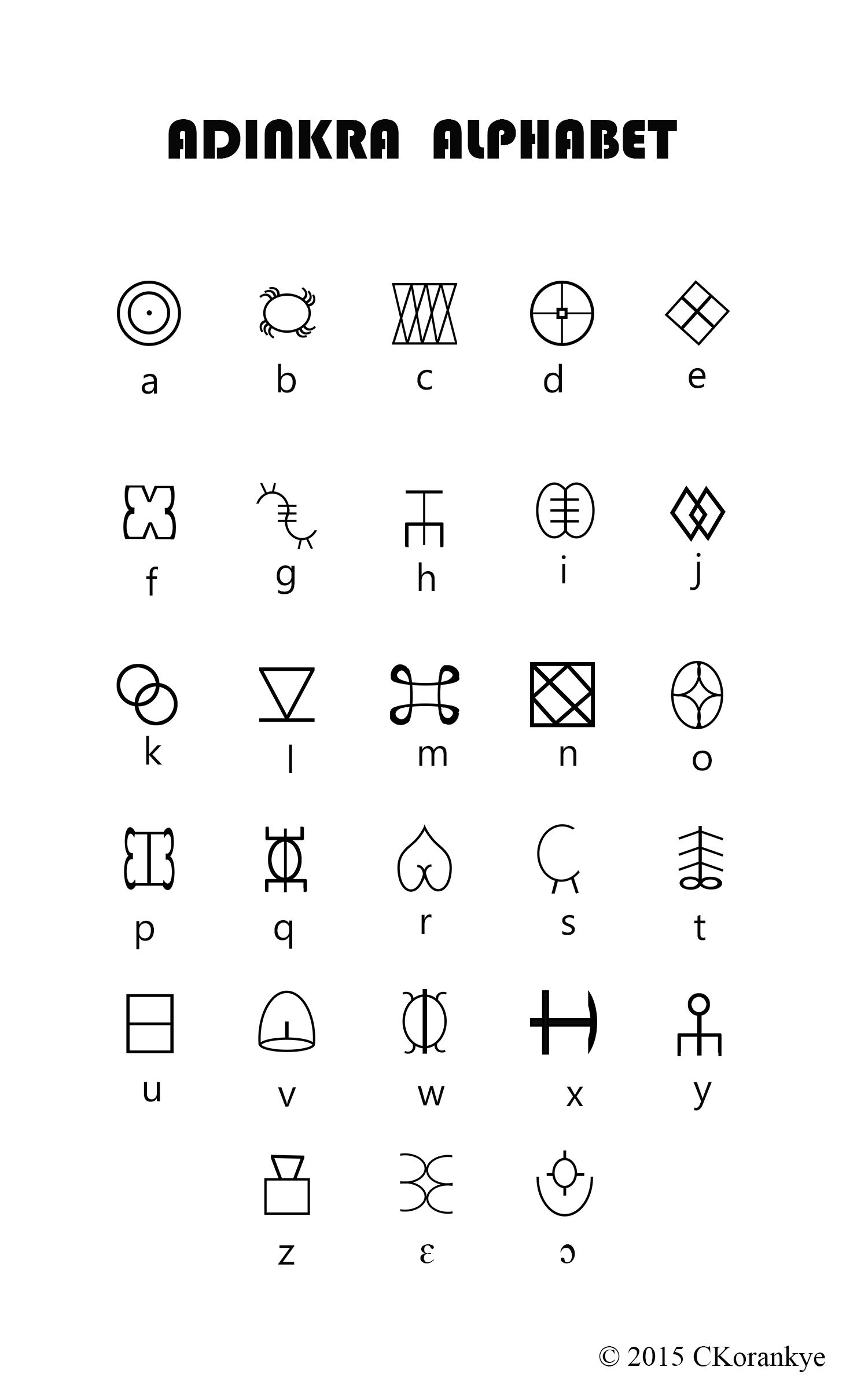 Adinkra alpahbet final fun 2017 pinterest symbols tattoo the aim of adinkra alphabet is to be able to write native ghanaian languages with native adinkra alphabet characters biocorpaavc Images