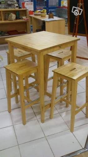 De Matériel Avec Ses Tabourets Professionnel Haute Bar Table 4 Saône y6IYf7gbv