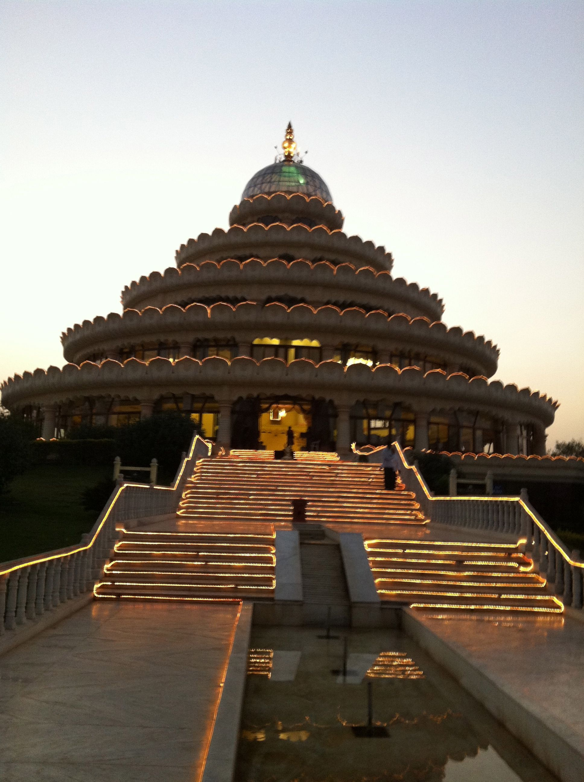Art of Living Ashram, just outside Bangalore in India