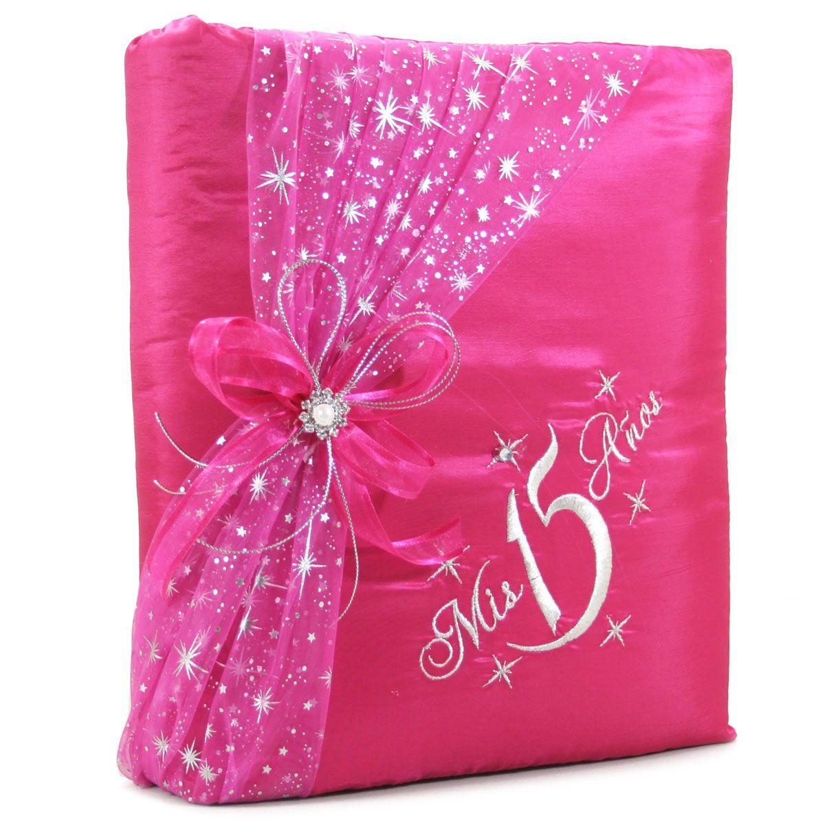 Select Your Choice of Mis Quince Años Guest Book Photo Album Kneeling Tiara Bible Set Q3074 (Photo Album)