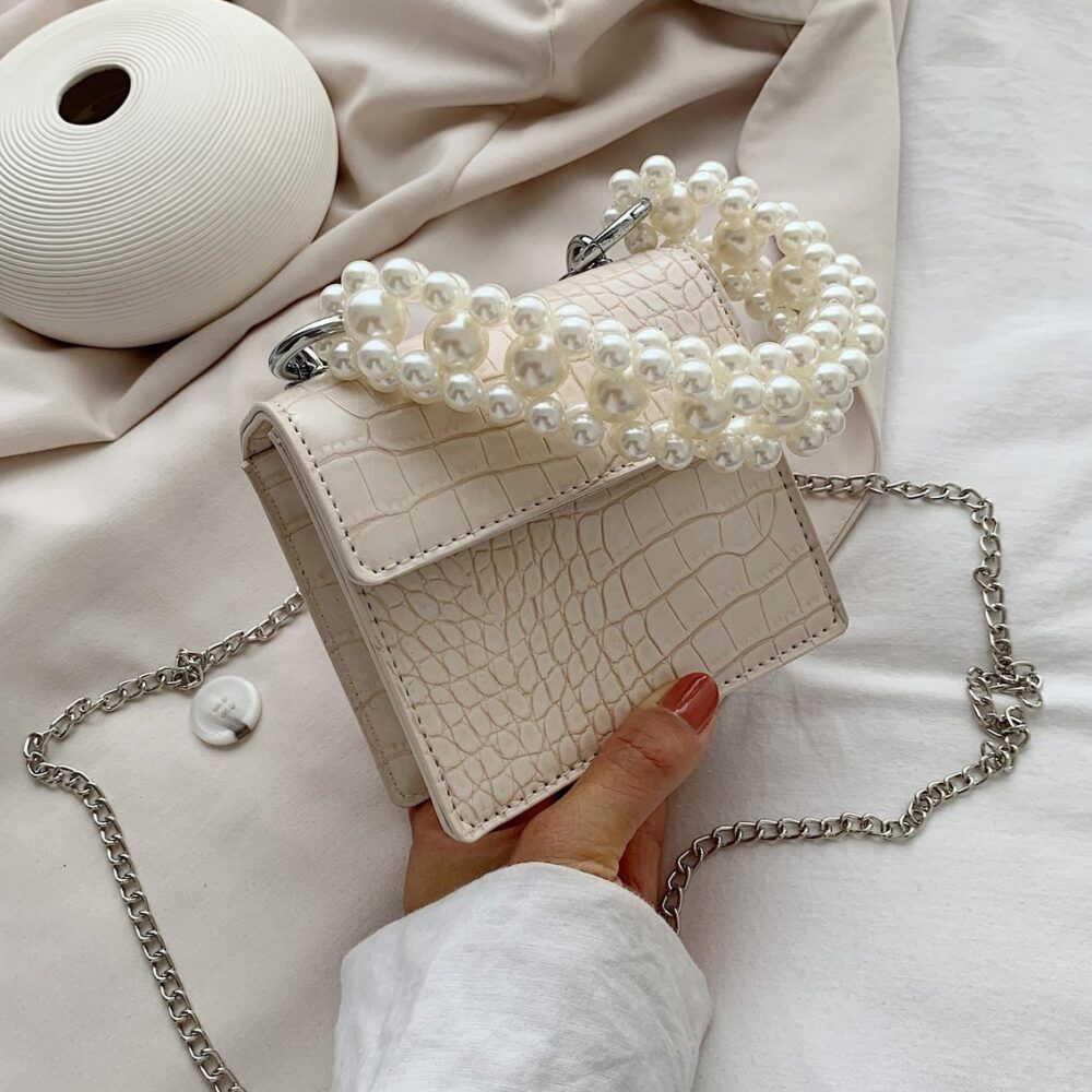 Summer With Sweet Pear Handle Lady Shoulder Handbags in