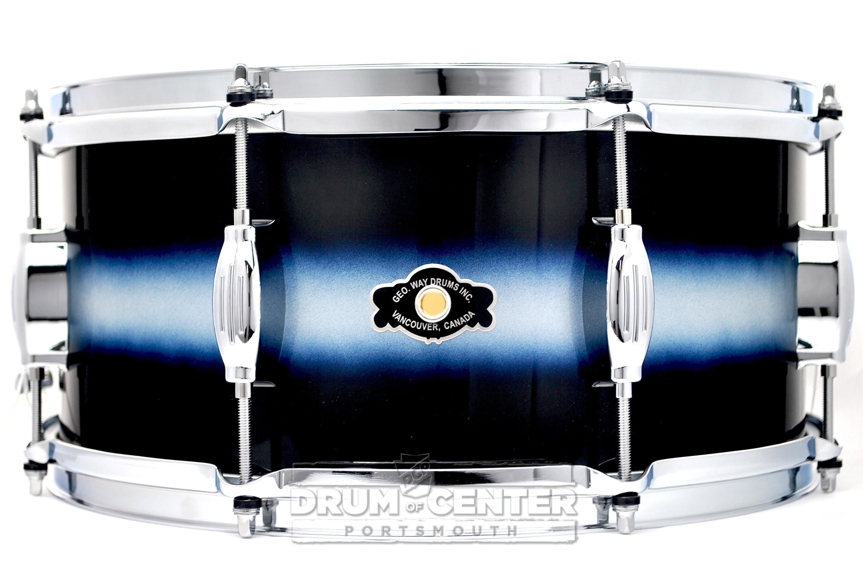 george way studio snare drum 14x6 5 blue duco in 2019 the snare wall snare drum drums. Black Bedroom Furniture Sets. Home Design Ideas