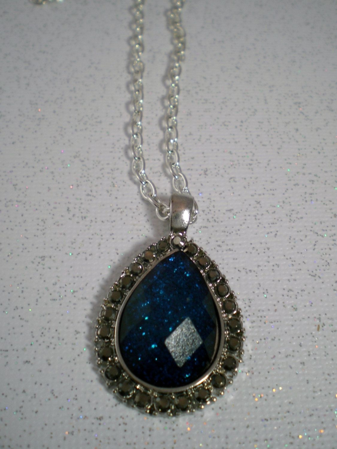lockets created a silver pendant sterling in with sapphire