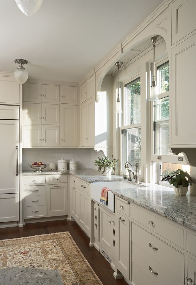 Tired For A Dark Victorian Kitchen This White Version Keeps The Character Of The Eclectic Victoria Victorian Kitchen Kitchen Cabinet Design Craftsman Kitchen