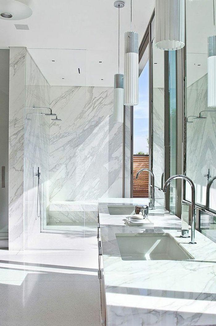 Beaucoup d\'idées en photos pour la salle de bain en marbre. | Future