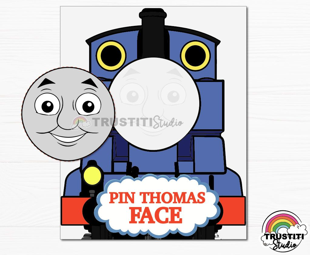 Thomas The Train BIRTHDAY GAME And Friends Party Printable Pin Face Tail By TRUSTITI On Etsy