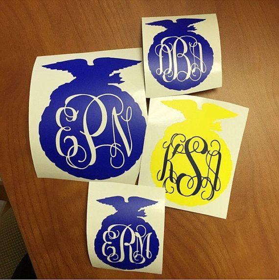 Pin By Alyssa Barbour On Ffa Ffa Emblem Ffa Monogram Decal
