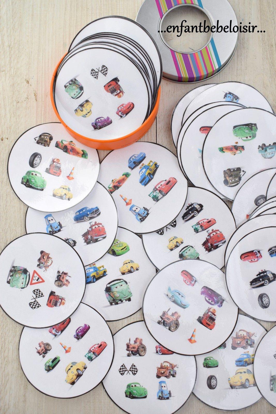 Häufig Jeu Dobble CARS Pixar à imprimer - gratuit | puzzle dobbles  MZ74