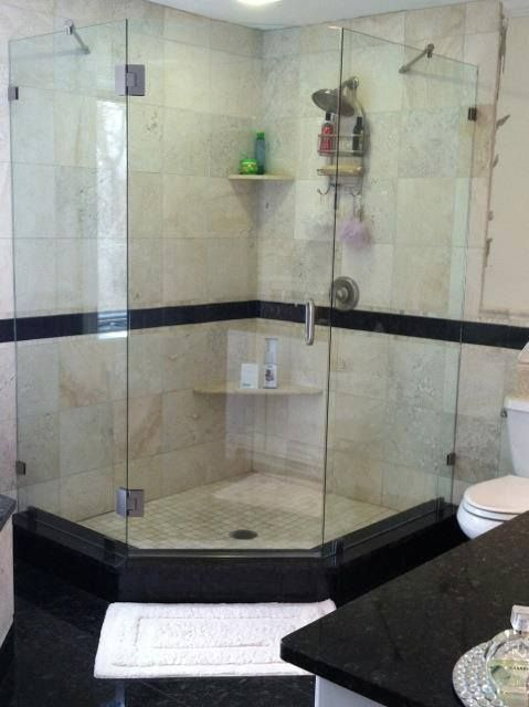 This Client Preferred The Frameless Shower Enclosure Without The