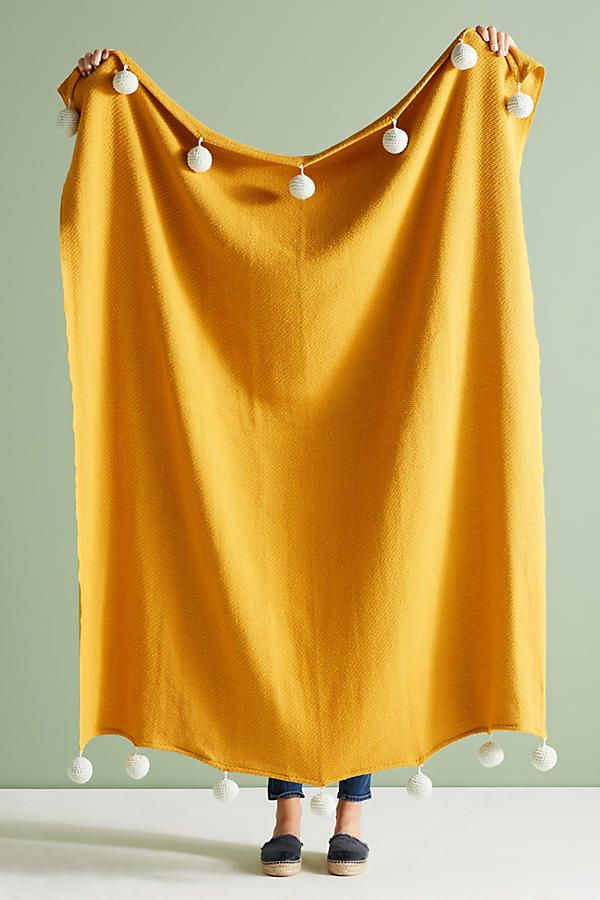 Mustard Yellow Throw Blanket Interesting Sonoran Pommed Throw Blanket  Blanket Room And Room Decor Decorating Design