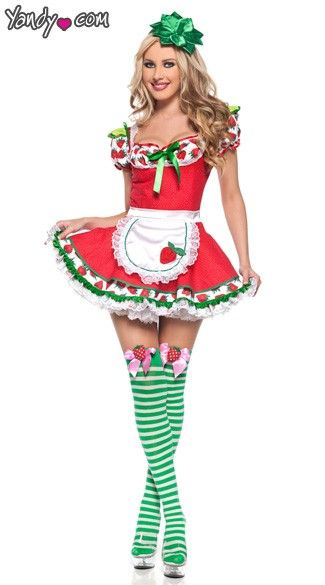 adult strawberry girl costume - Womens Halloween Costumes Not Skanky