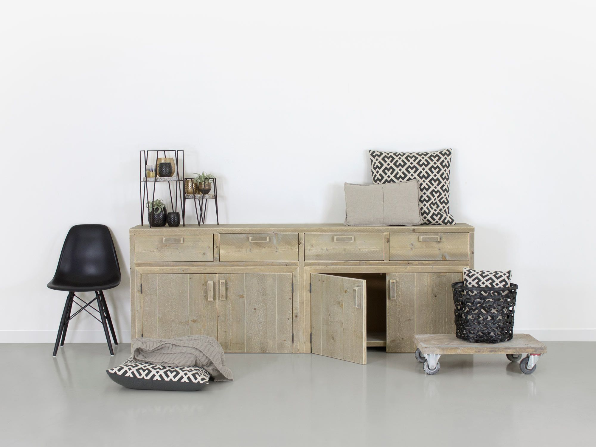 Wohnideen Büro Im Wohnzimmer bauholz kommode alma bauholz möbel design küche