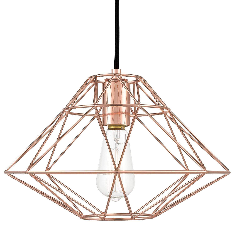 Rose Gold Light Fixture Pendant Geometric Hanging Pendant Lamp Geometric Pendant Light Rose Gold Lights