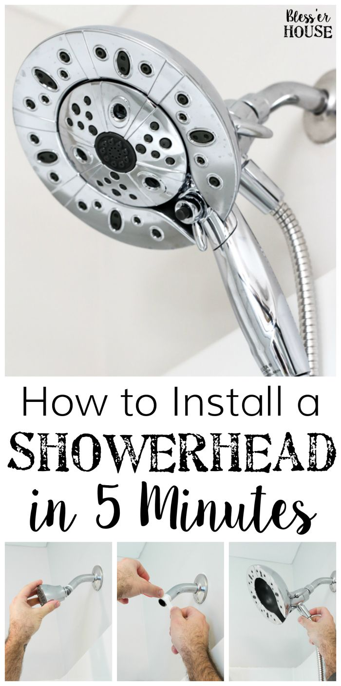 How to Install a Showerhead in 5 Minutes | blesserhouse.com - A quick and simple guide for installing a showerhead in 5 minutes, plus a complete review of the Delta Faucet In2ition Showerhead with H20kinetic Technology. #sponsored popular pin