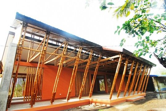 First Full Bamboo School In Philippines Built In Camarines Sur | Inhabitat    Sustainable Design Innovation