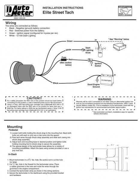 Tachometer Wiring Diagram  With Images