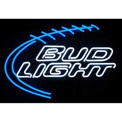 Neonetics bud light football neon sign products pinterest bud pool bar lights unique lighting for game rooms and bars aloadofball Gallery