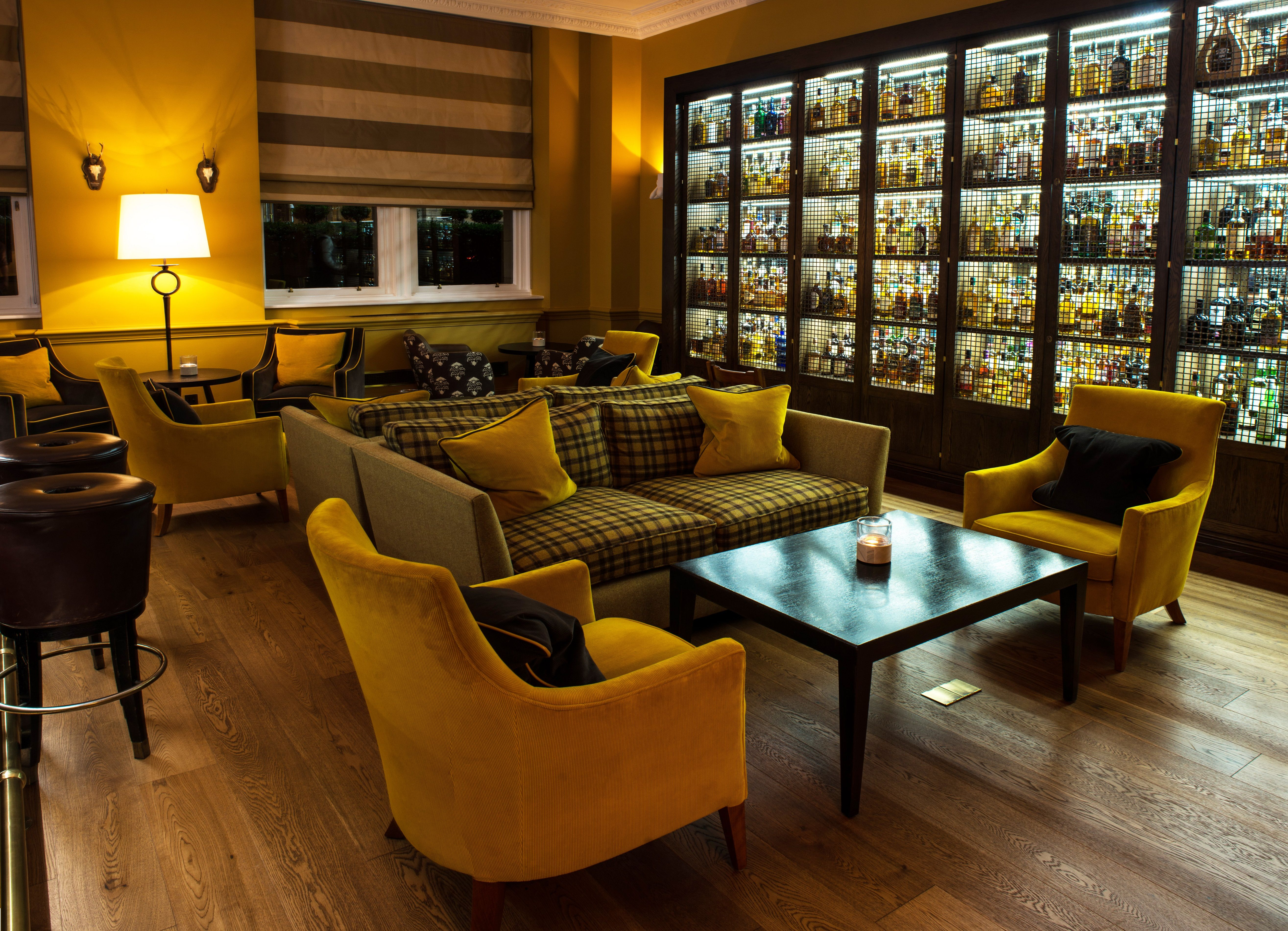 Hotel The Balmoral Whisky Bar. It has the largest ...