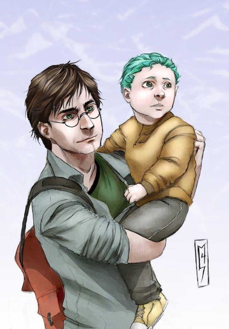 20 Of The Best Pieces Of Teddy Lupin Fanart Teddy Lupin Harry Potter Fan Art Fan Art