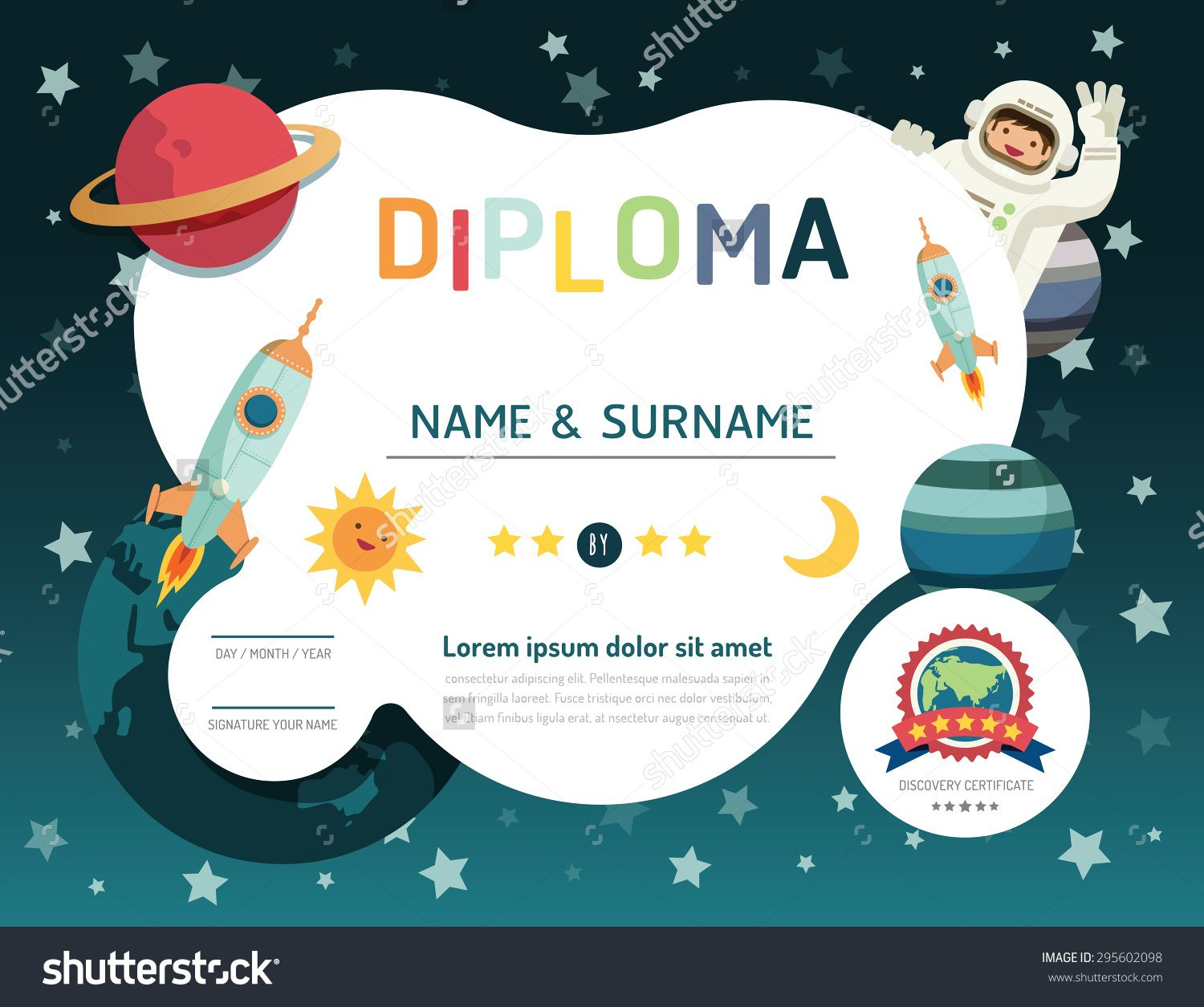 Image result for preschool diploma template design inspiration photo about certificate kids diploma kindergarten template layout space background frame design vector alramifo Images