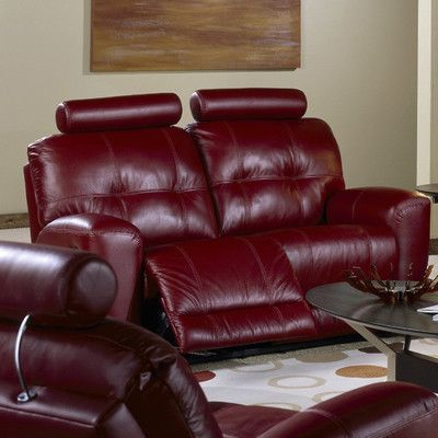 Palliser Furniture Galore Reclining Loveseat Type: Bonded Leather    Champion Mink, Upholstery: All Leather Protected   Tulsa II Dark Brown. See  More