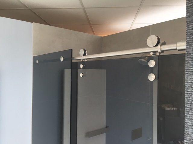 Douche Schuifdeur Rollers : Bd schuifdeur rollers rvs l balance bathroom b d