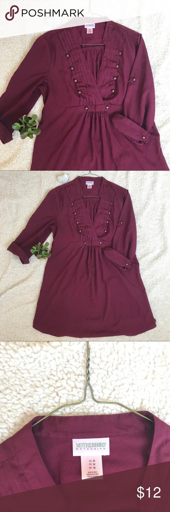 Motherhood Maternity Maroon Blouse, medium | Maroon blouse ...